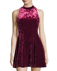 Romeo And Juliet Couture Crushed Velvet Fit Flare Sleeveless Dress Black