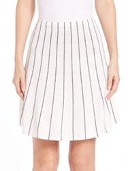Theory Lotamee P. Prosecco Stripe Skirt Eggshell Navy