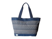 Toms Tribal Geo Canvas Tote Navy Tote Handbags