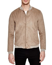 Native Youth Faux Suede Bomber Jacket Sand