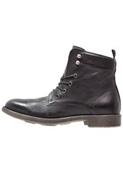 Mjus Hal Laceup Boots Nero Black