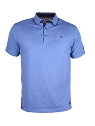 Raging Bull Thin Placket Jersey Polo Blue