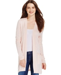 Calvin Klein Jeans Long Sleeve Open Front Cardigan Peach Whip