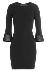 By Malene Birger Ribbed Dress With Flared Seeves Black