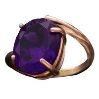Bijules Phalange Cocktail Ring 18K Rose Gold Vermeil