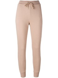 Alexander Wang T By Gathered Ankle Track Pants Nude Neutrals