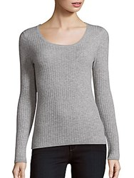 Cashmere Saks Fifth Avenue Ribbed Pullover Flannel