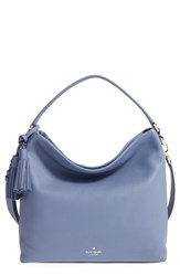 Kate Spade New York 'Orchard Street Small Natalya' Pebbled Leather Hobo Bag Blue Oyster Blue