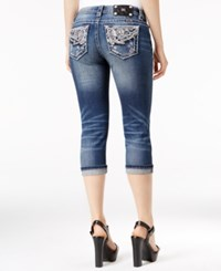 Miss Me Faded Capri Jeans Blue