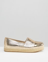 Steve Madden Prioriti Gold Metallic Espadrilles Gold Synthetic