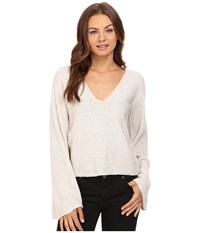 Free People Starman Pullover Ivory Women's Long Sleeve Pullover White
