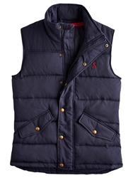 Joules Harkley Quilted Gilet Navy