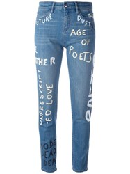 Each X Other Printed Jeans Blue