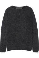 The Elder Statesman Cashmere Sweater Charcoal