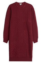 Kenzo Knitted Wool Dress Red
