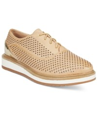 Wanted Macdaddy Perforated Lace Up Oxfords Women's Shoes