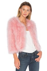Jocelyn Turkey Feather Bolero Pink