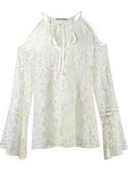 Martha Medeiros Cold Shoulder Lace Tunic White