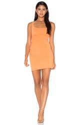 Susana Monaco Gather Tank 17' Dress Orange