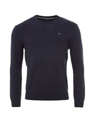 Eden Park Round Neck Cotton Sweater Navy