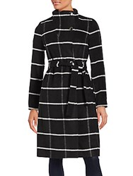 Ivanka Trump Plaid Coat Black White