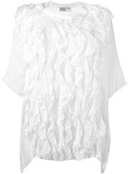 Faith Connexion Oversized Ruffle Blouse White