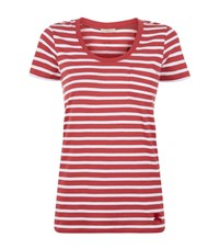 Burberry Striped Pocket T Shirt Female Red