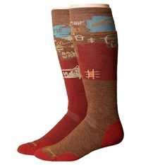 Smartwool Phd Slopestyle Medium Craigieburn Moab Rust Men's Knee High Socks Shoes Red