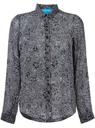 Mih Jeans 'Evelyn' Floral Shirt Blue