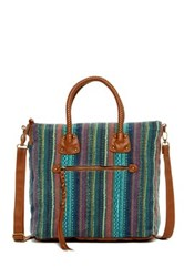 T Shirt And Jeans Braided Handle Satchel Multi