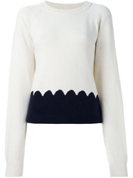 Chloe Scalloped Intarsia Jumper Nude And Neutrals