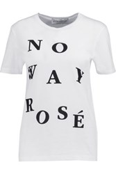 Etre Cecile No Way Rose Cotton Jersey T Shirt White