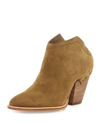 Dolce Vita Haku Suede Mule Bootie Olive Green