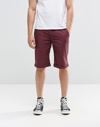 Brooklyn Supply Co. Co Skinny Chinos Shorts In Burgundy Burgundy Red