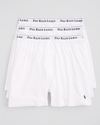 Polo Ralph Lauren Knit Boxers Pack Of 3 White