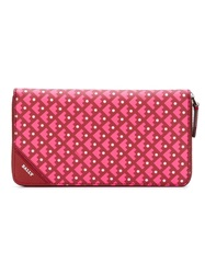 Bally Geometric Pattern Wallet Pink And Purple