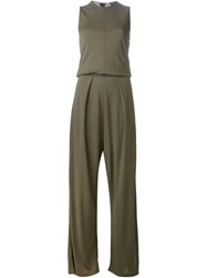 Kai Aakmann Contrasting Back Panel Jumpsuit Green