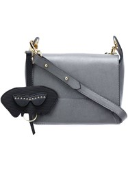Christian Siriano Flap Crossbody Bag Grey