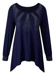 Grace Made In Britain Studded Tunic Navy