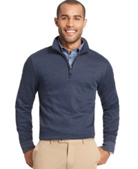 Van Heusen Spectator 1 4 Zip Sweater Blue Black Iris