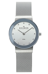 Skagen Round Case Mesh Strap Watch 26Mm Silver