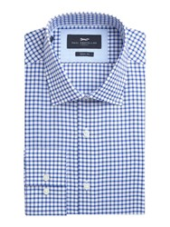 Paul Costelloe Slim Fit Oxford Navy Check Shirt