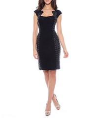 Decode 1.8 Sequined Inset Sheath Dress Black