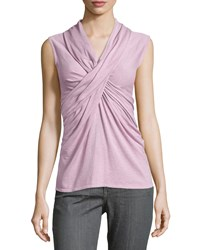 Natori Crisscross Sleeveless Knit Top Opaline