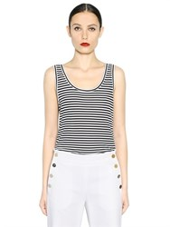 Max Mara Striped Viscose Jersey Tank Top