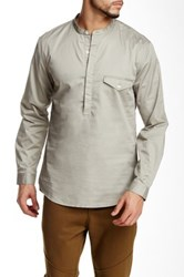Shades Of Grey Band Collar Popover Beige