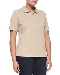 Escada Short Sleeve Polo Beige Melange