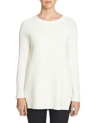1.State Crewneck Multi Stitch Tunic Sweater Chalk