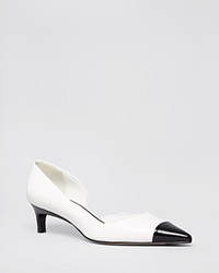 Max Mara Pointed Toe D'orsay Pumps Bronxo Kitten Heel