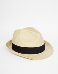 Selected Straw Trilby White